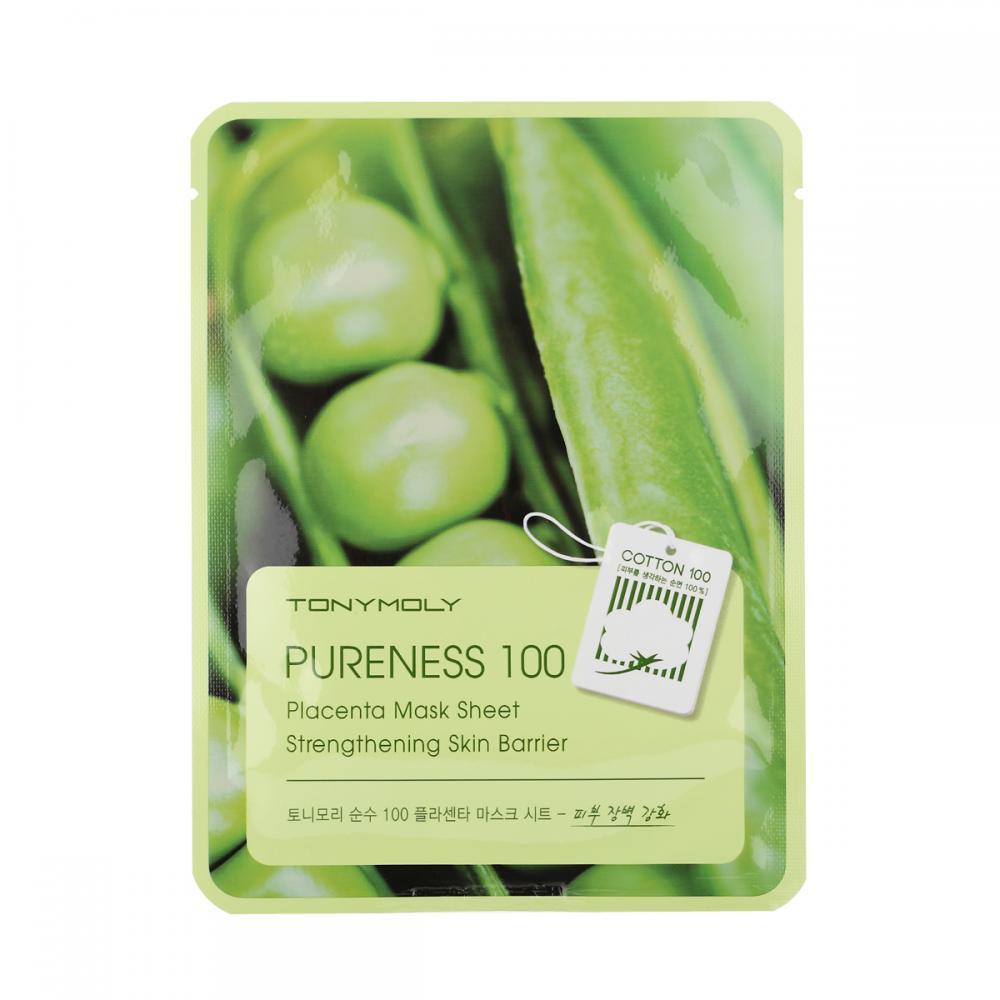 Купить Тканевая маска с растительной плацентой - Tony Moly Pureness 100 Placenta Mask Sheet