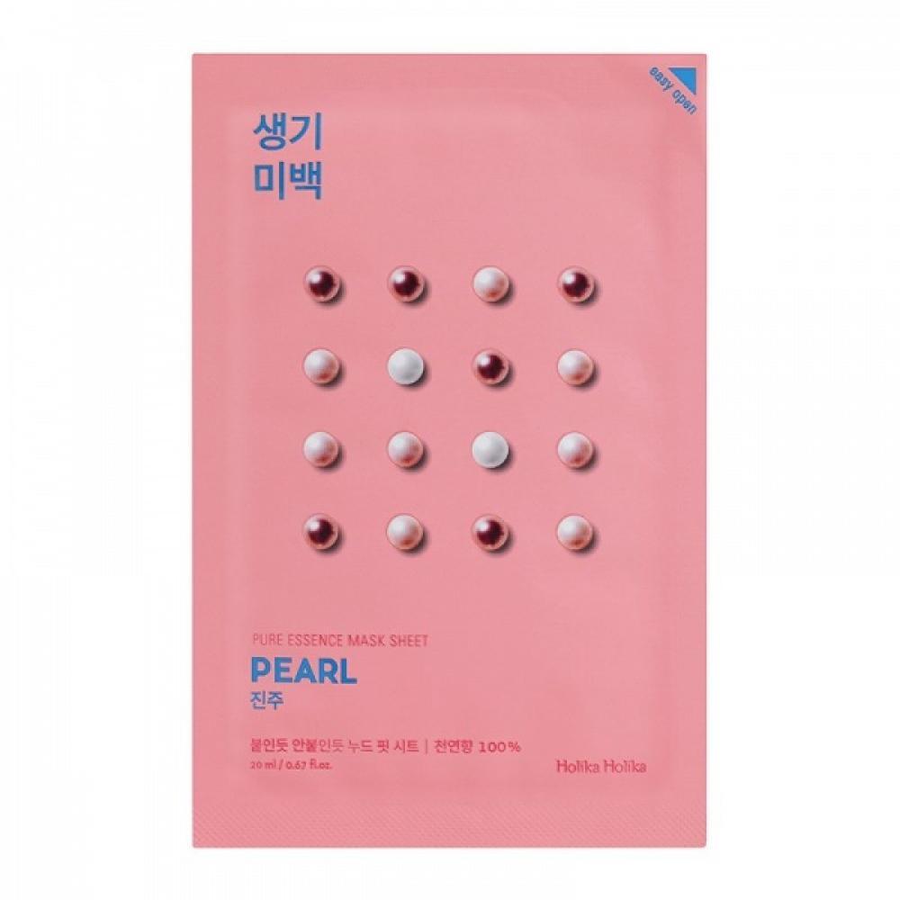 Купить Тканевая маска с жемчугом Holika Holika Pure Essence Mask Sheet-Pearl
