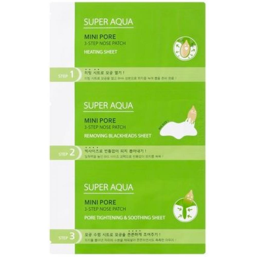 Купить 3-ступенчатый патч для очищения пор носа - MISSHA Super Aqua Mini Pore 3Step Nose Patch
