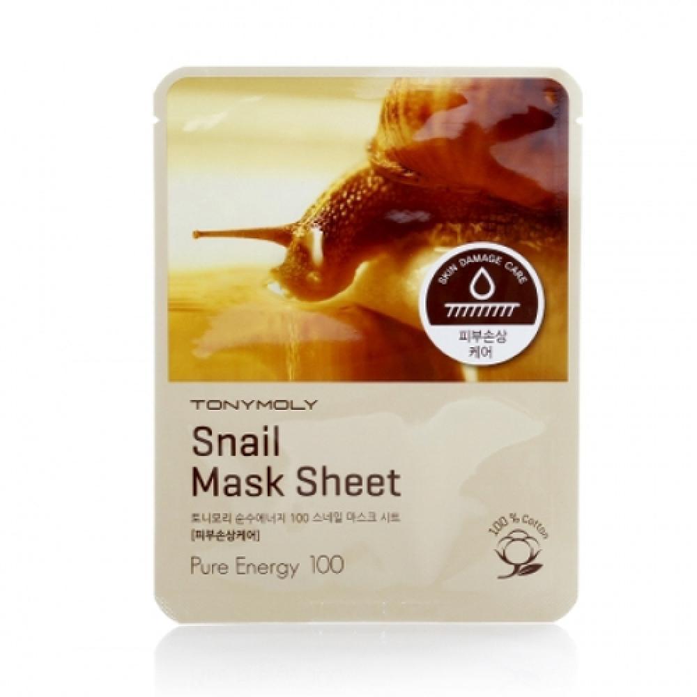 Купить Тканевая маска с улиточным муцином  PURENESS 100 SNAIL MASK SHEET Tony Moly