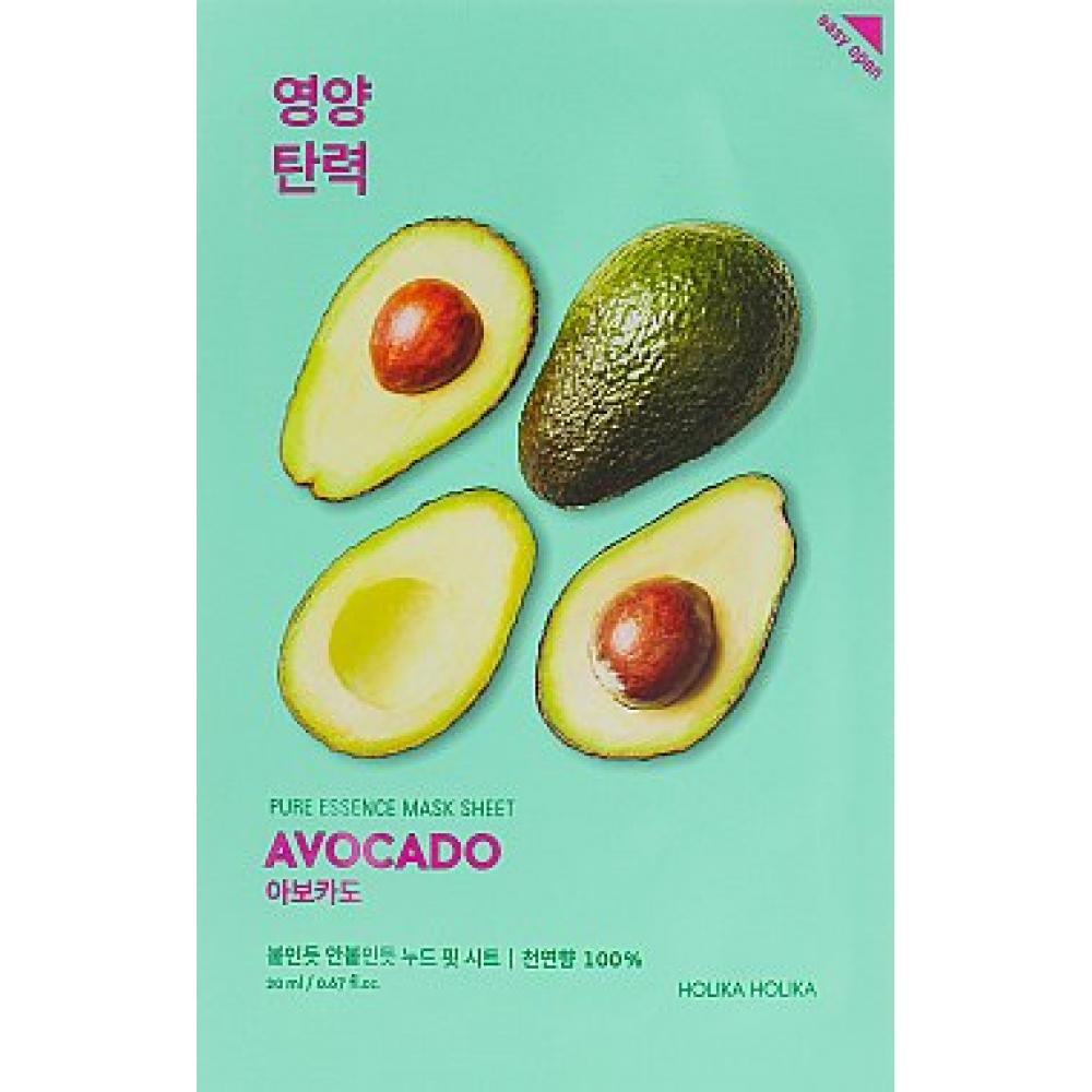 "Купить  Тканевая маска ""Авокадо"" Holika Holika Pure Essence Mask Sheet Avocado"