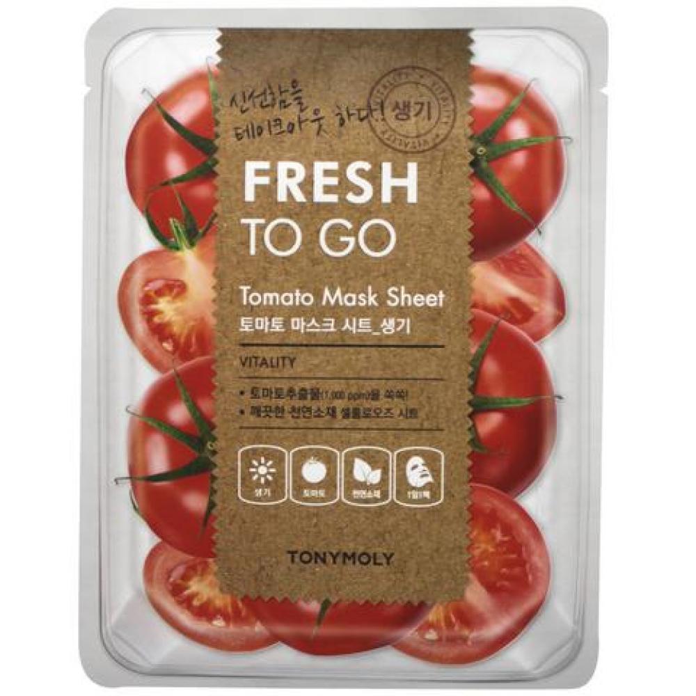 Купить Тканевая маска с томатом витаминизирующая - Tony Moly Fresh To Go Tomato Mask Sheet
