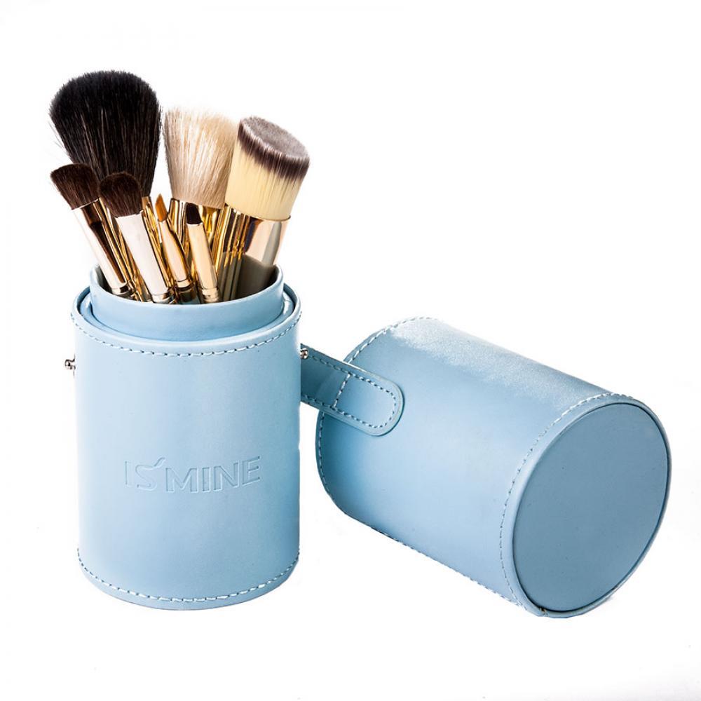 Купить Набор кистей для макияжа 7 шт - Make Up Me TUBE-7-BLUE Голубой