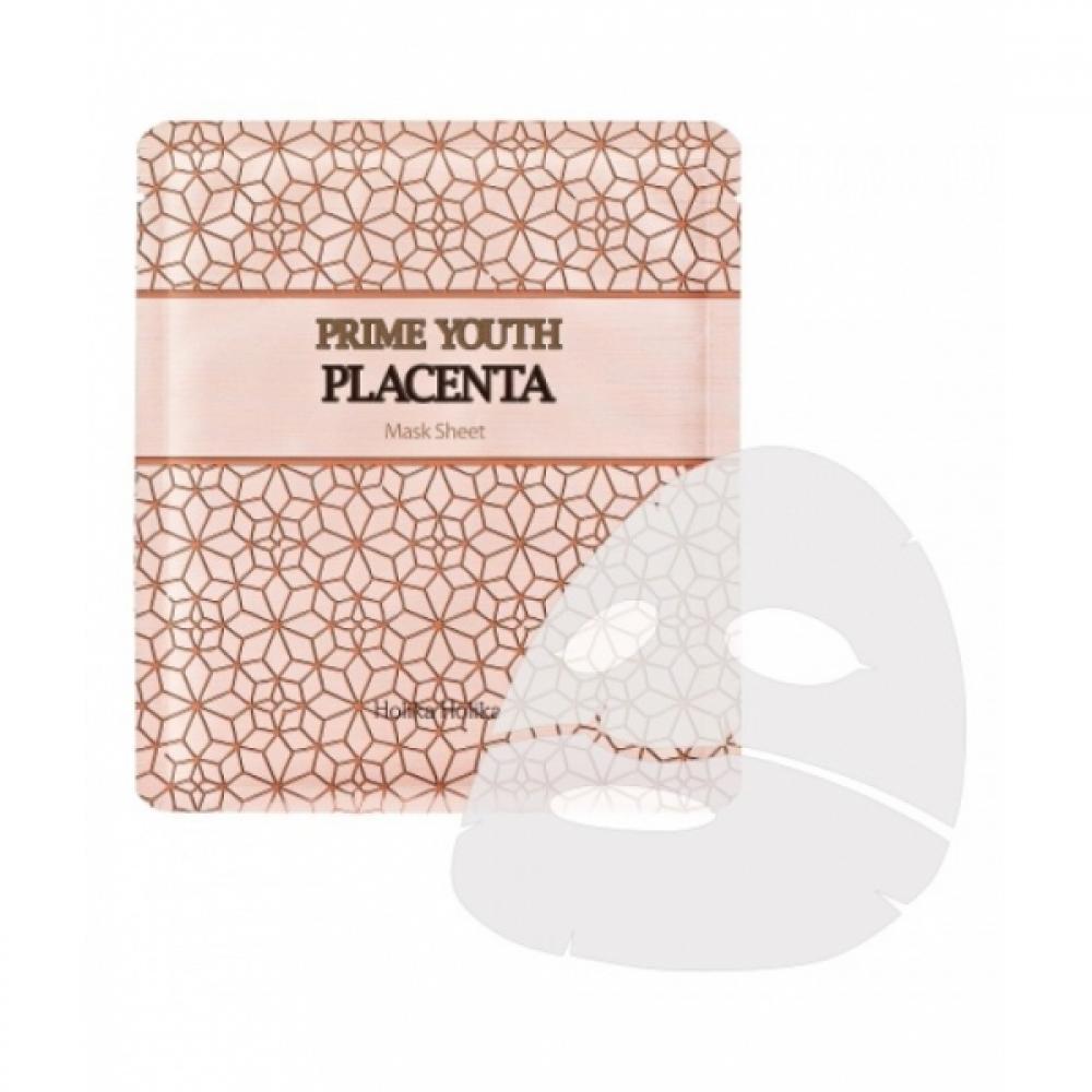 Купить Омолаживающая маска с плацентой - Holika Holika Prime Youth Placenta Mask Sheet