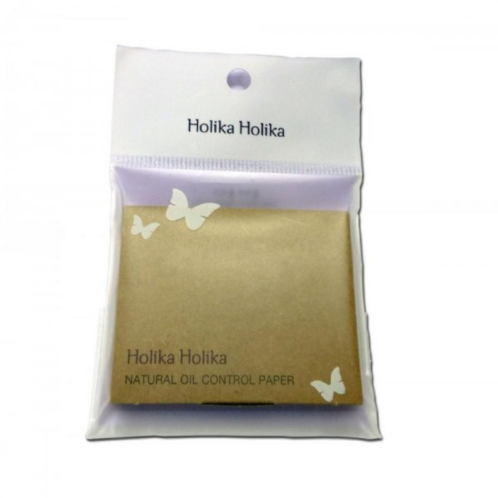 Купить Матирующие салфетки для лица - Holika Holika Natural Oil Control Paper