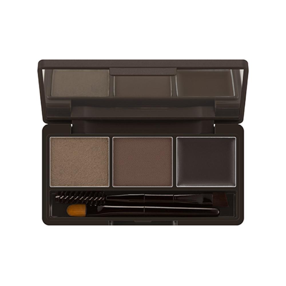 Купить Набор для коррекции бровей - MISSHA 3-STEP Brow Kit (Dark Brown)
