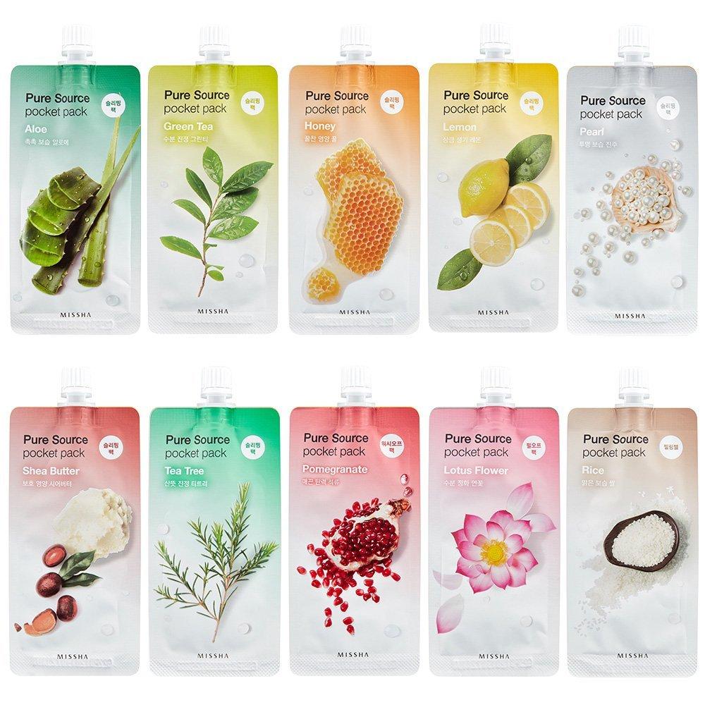 Купить Ночная маска - MISSHA Pure Source Pocket Pack