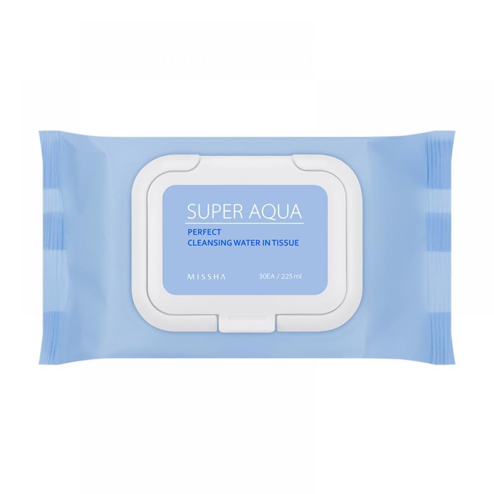 Купить Увлажняющие очищающие салфетки - Missha Super Aqua Perfect Cleansing Water In Tissue
