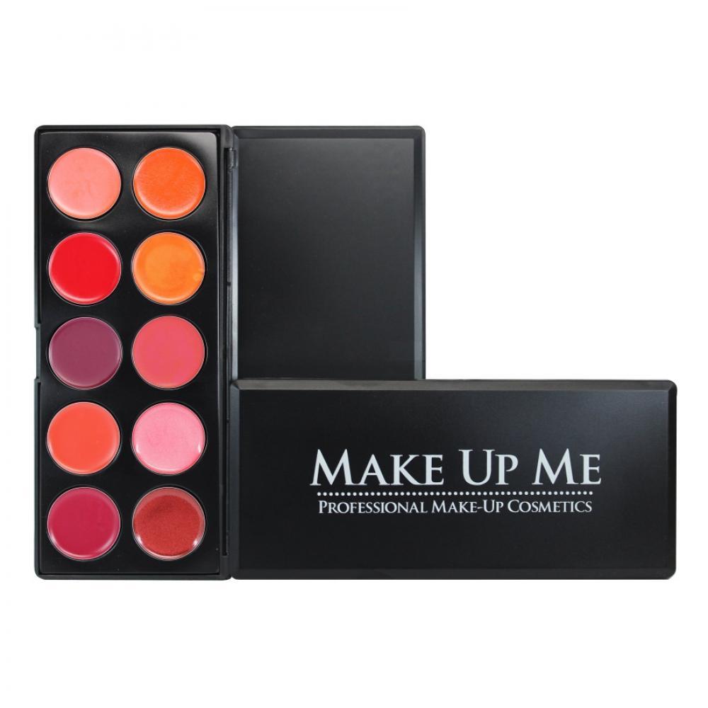 Купить Профессиональная палитра помад для губ 10 цветов Make Up Me L10-2