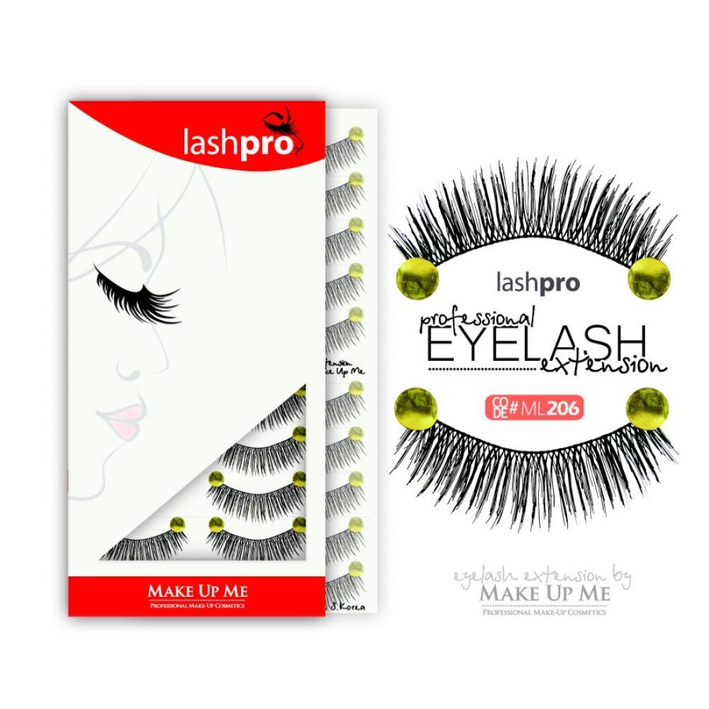 Купить Профессиональный набор ресниц 10 пар - Make Up Me LashPro ML206