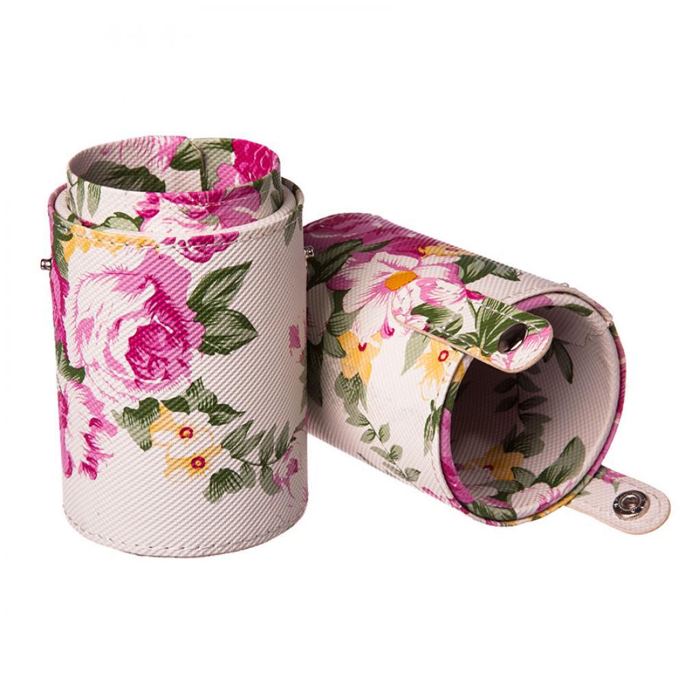 Купить Мини-тубус для кистей - Make Up Me TUBE-S-FL Розовые Цветы