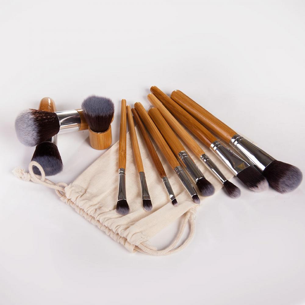 Купить Набор кистей для макияжа 11 шт - Make Up Me ECO-11 Ситец