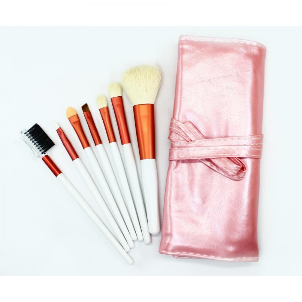 Купить Домашний набор кистей для макияжа 7 шт - Make Up Me PINK-7 Розовый