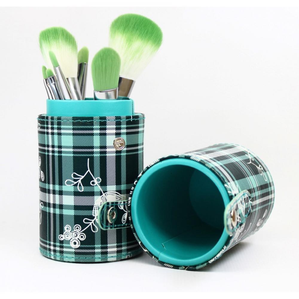 Купить Набор кистей для макияжа 8 шт - Make Up Me TUBE8-GR Зеленая Клетка