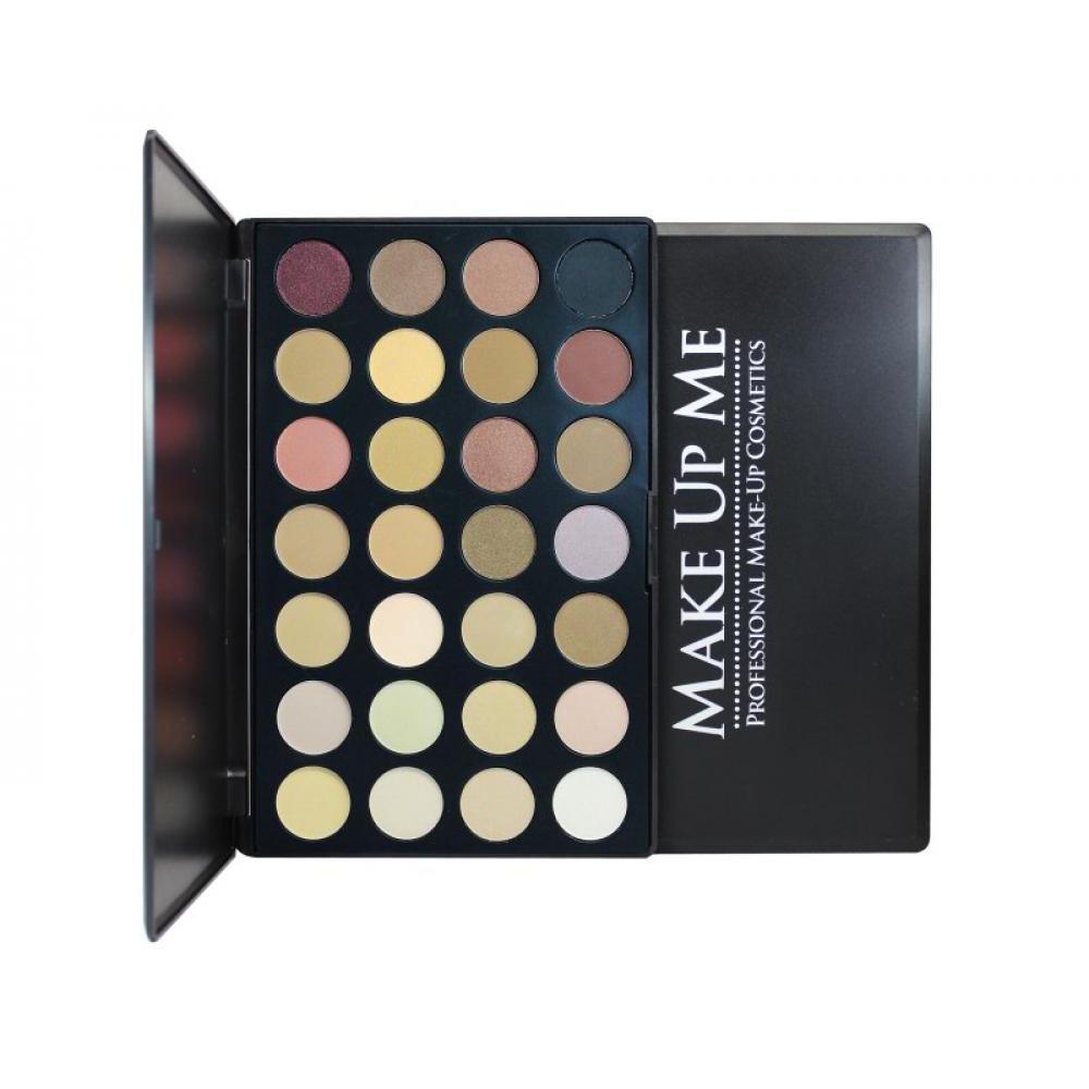 Купить Палитра нейтральных теней 28 цветов Make Up Me P28