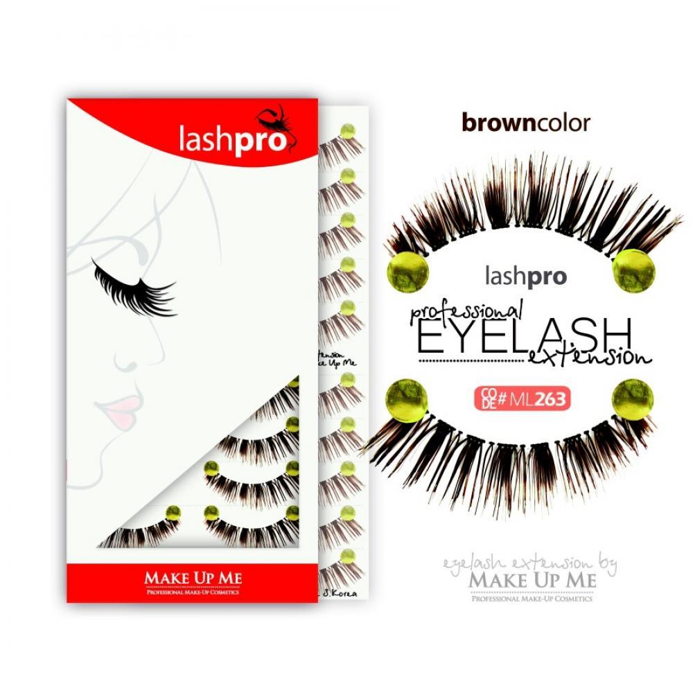 Купить Профессиональный набор коричневых ресниц 10 пар - Make Up Me LashPro ML263