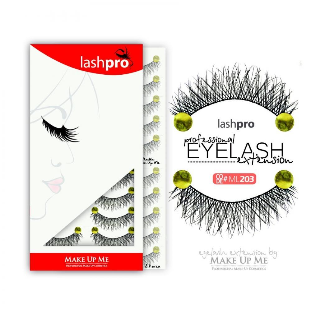 Купить Профессиональный набор ресниц 10 пар - Make Up Me LashPro ML203