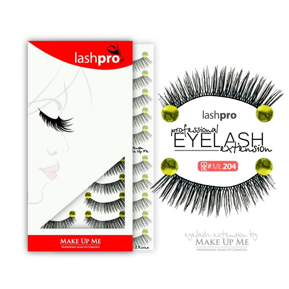 Купить Профессиональный набор ресниц 10 пар - Make Up Me LashPro ML204