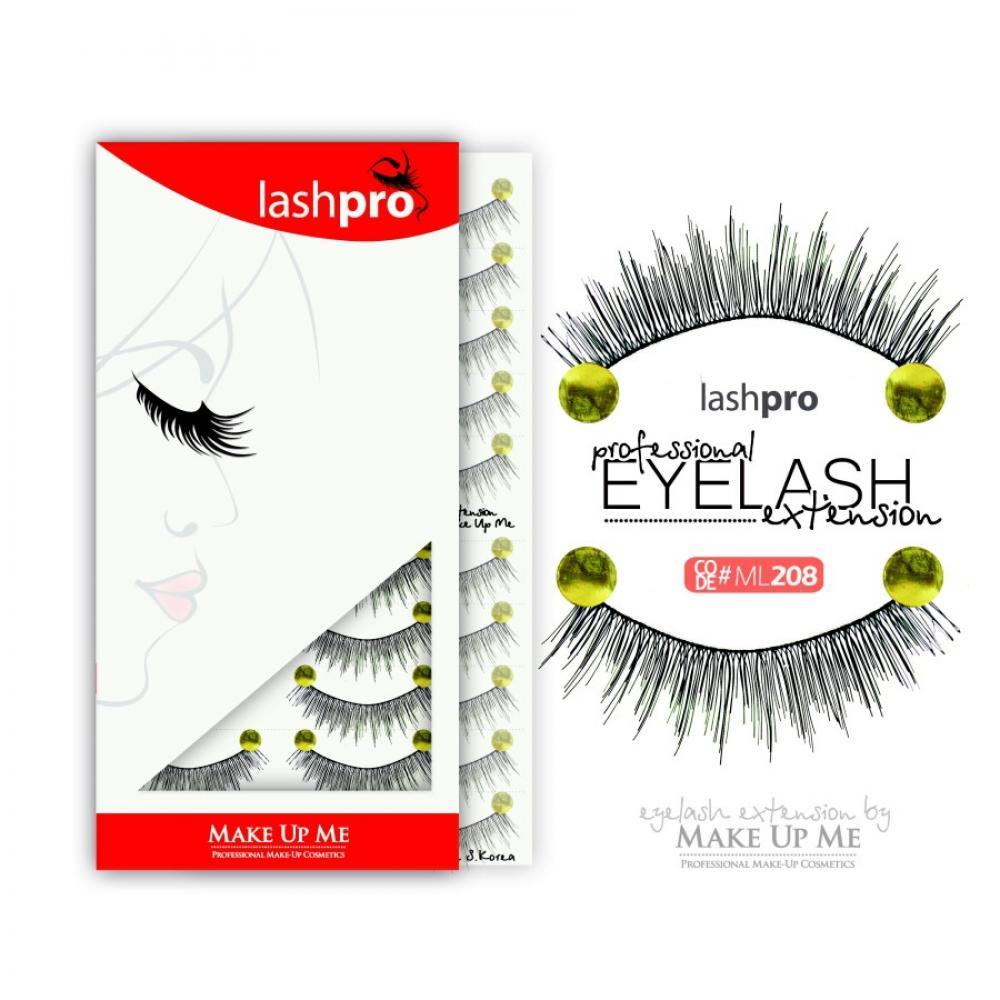 Купить Профессиональный набор ресниц 10 пар - Make Up Me LashPro ML208