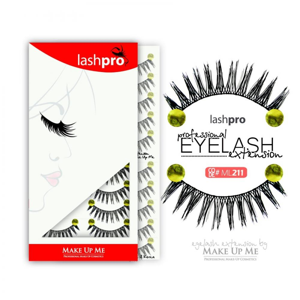 Купить Профессиональный набор ресниц 10 пар - Make Up Me LashPro ML211