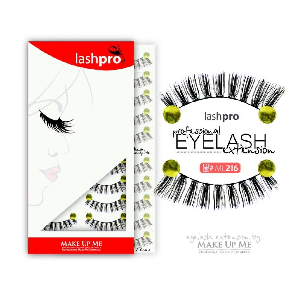 Купить Профессиональный набор ресниц 10 пар - Make Up Me LashPro ML216