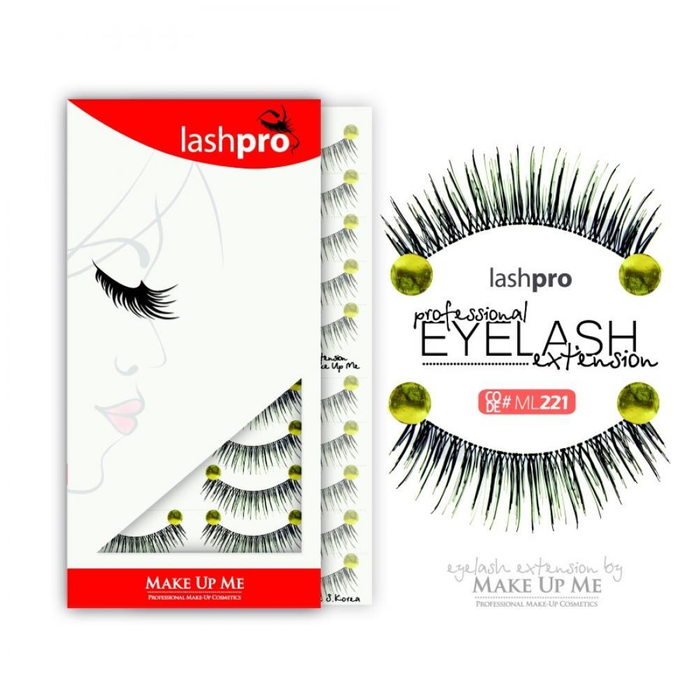 Купить Профессиональный набор ресниц 10 пар - Make Up Me LashPro ML221