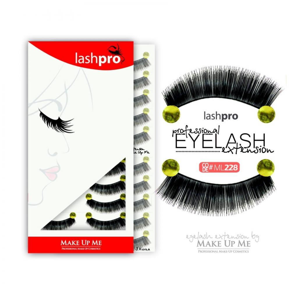 Купить Профессиональный набор ресниц 10 пар - Make Up Me LashPro ML228