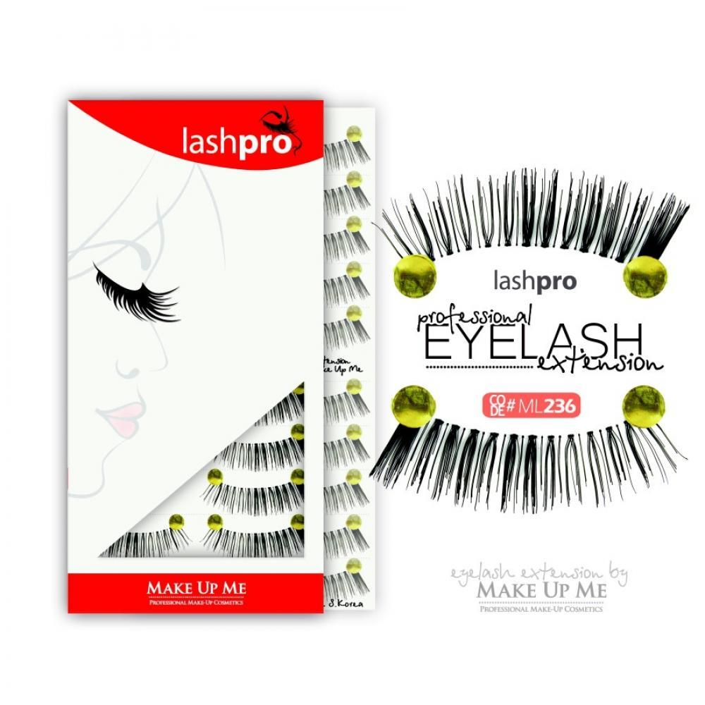 Купить Профессиональный набор ресниц 10 пар - Make Up Me LashPro ML236