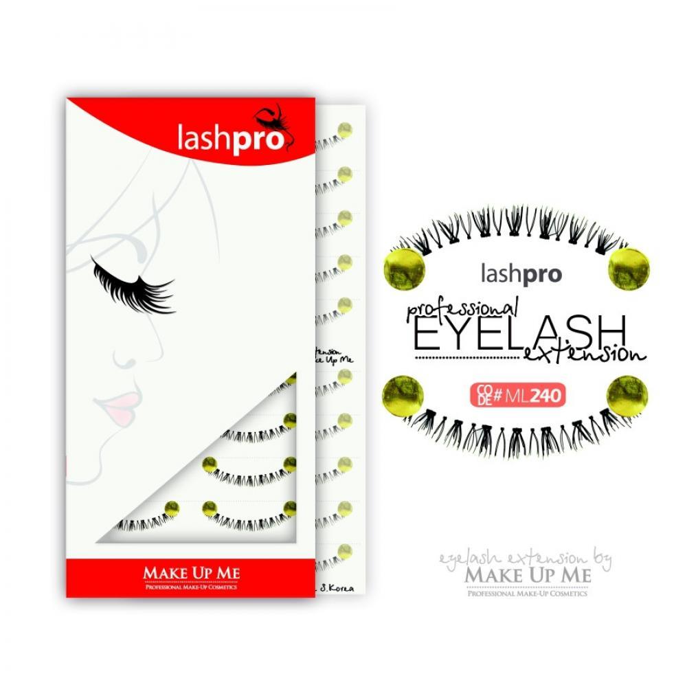 Купить Профессиональный набор ресниц для нижнего века 10 пар - Make Up Me LashPro ML240