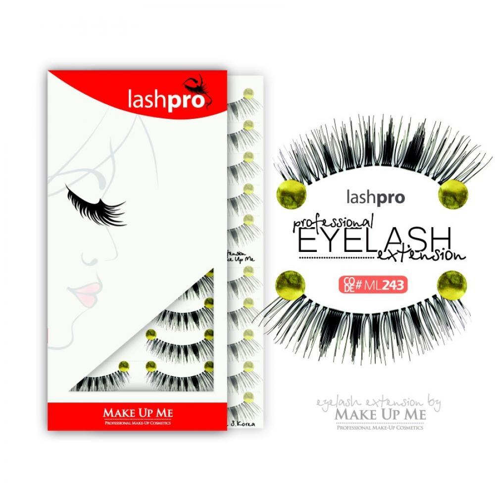 Купить Профессиональный набор ресниц 10 пар - Make Up Me LashPro ML243