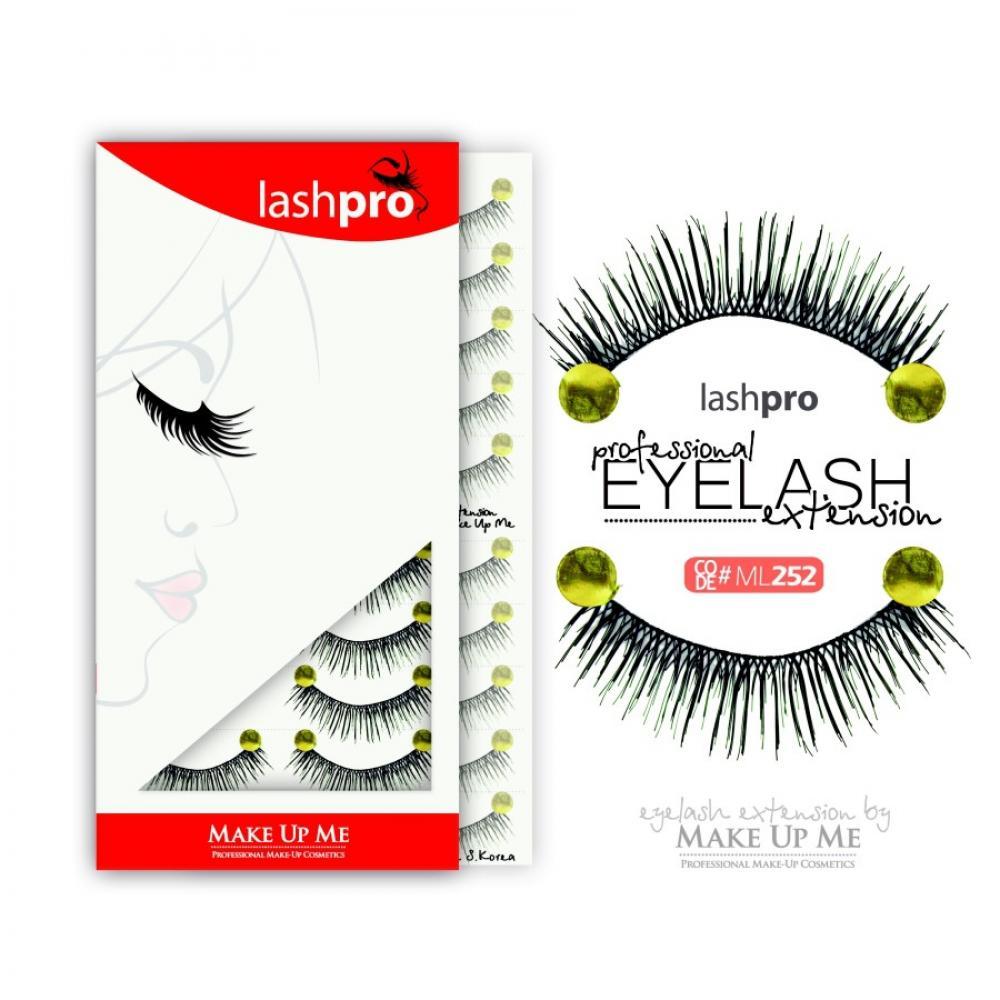 Купить Профессиональный набор ресниц 10 пар - Make Up Me LashPro ML252