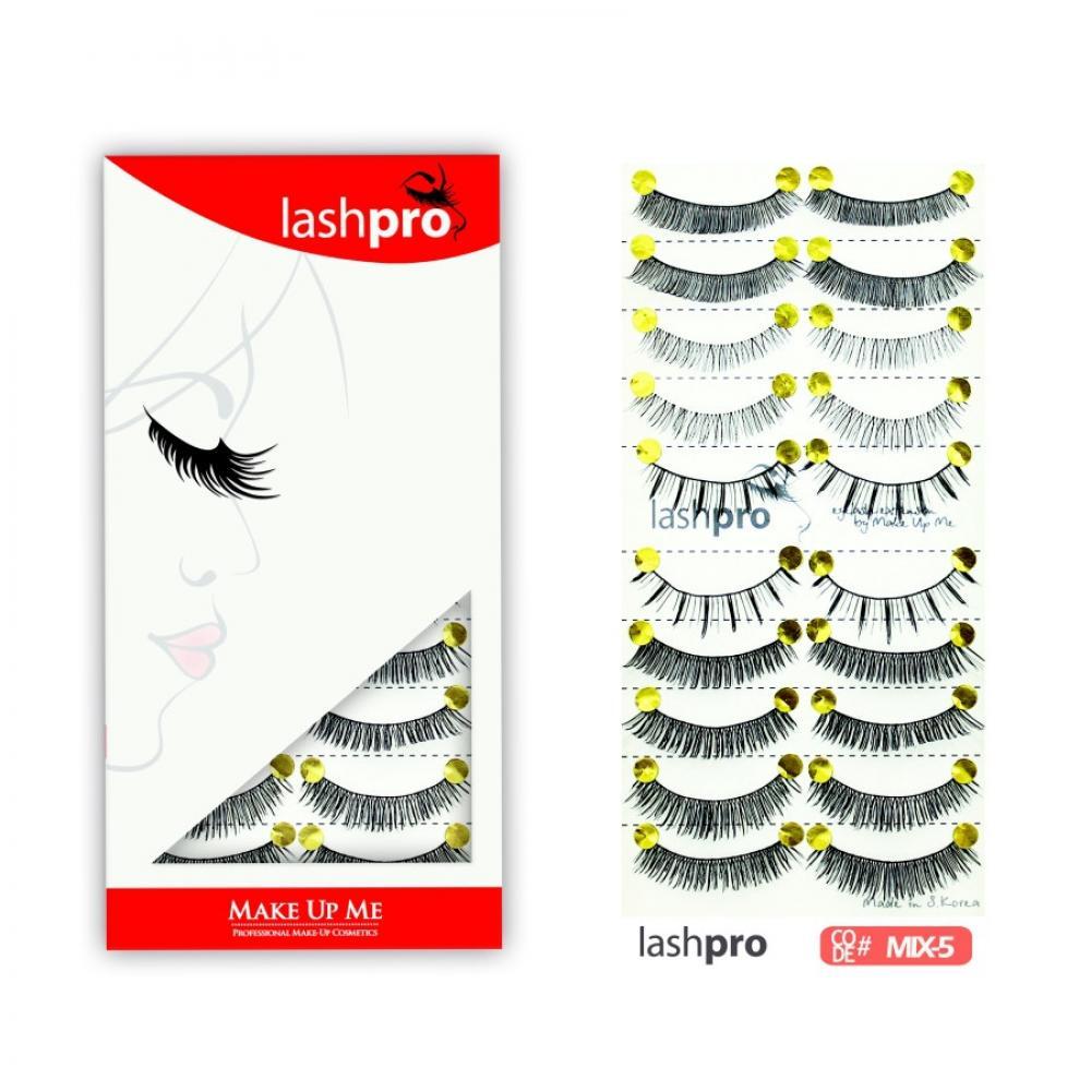 Купить Универсальный набор ресниц 5 видов 10 пар - Make Up Me LashPro MIX-5