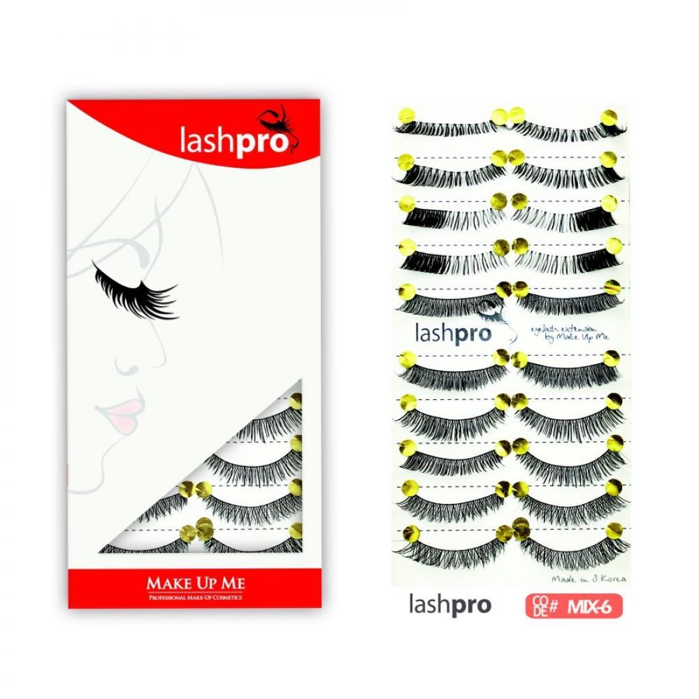 Купить Универсальный набор ресниц 5 видов 10 пар - Make Up Me LashPro MIX-6