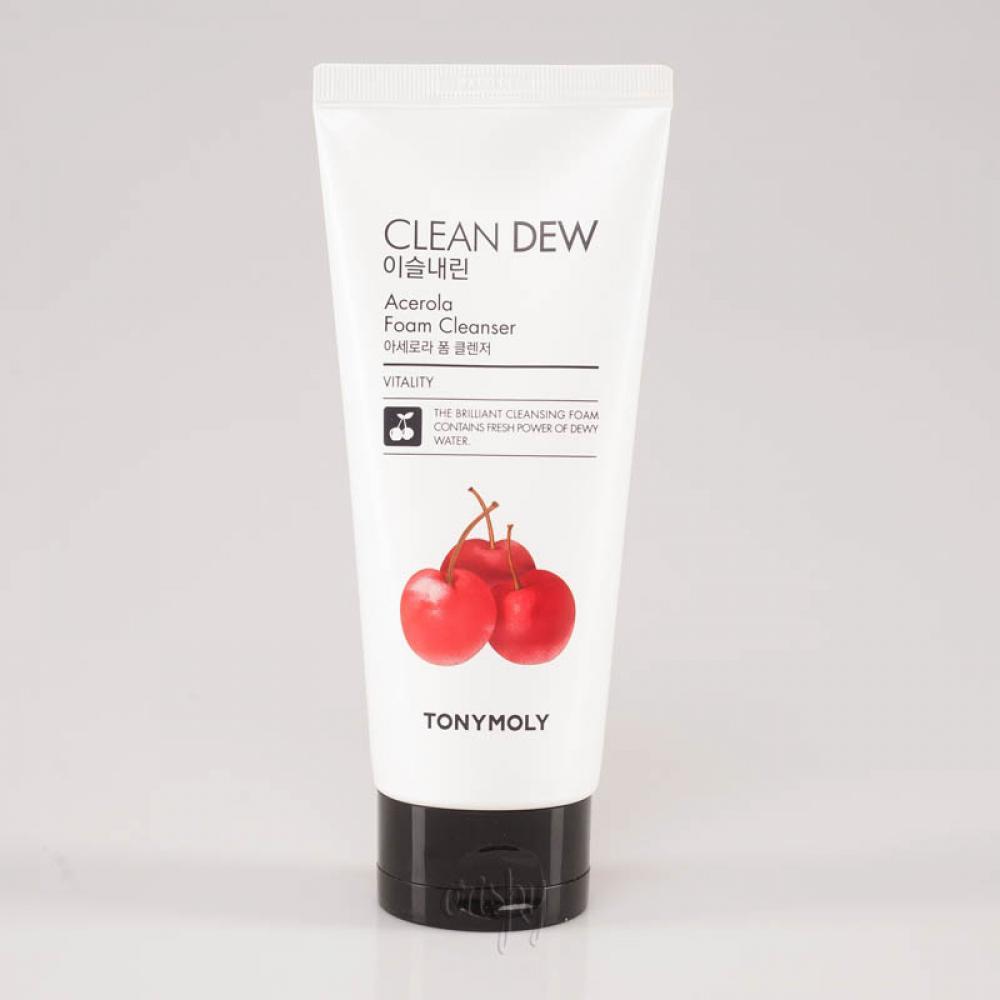 Купить Пенка для умывания с ацеролой - Tony Moly Clean Dew Foam Cleanser Acerola.