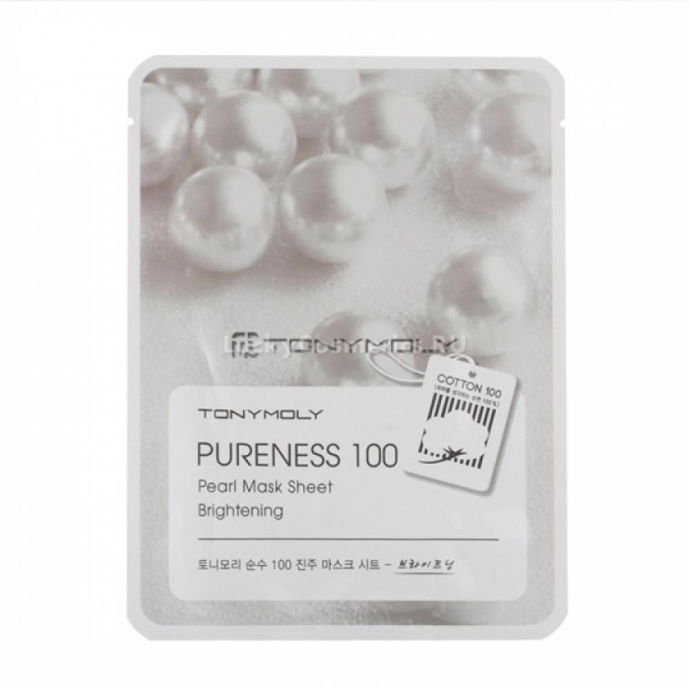 Купить Маска для лица с экстрактом жемчуга Tony Moly Pureness 100 Pearl Mask Sheet Brightening