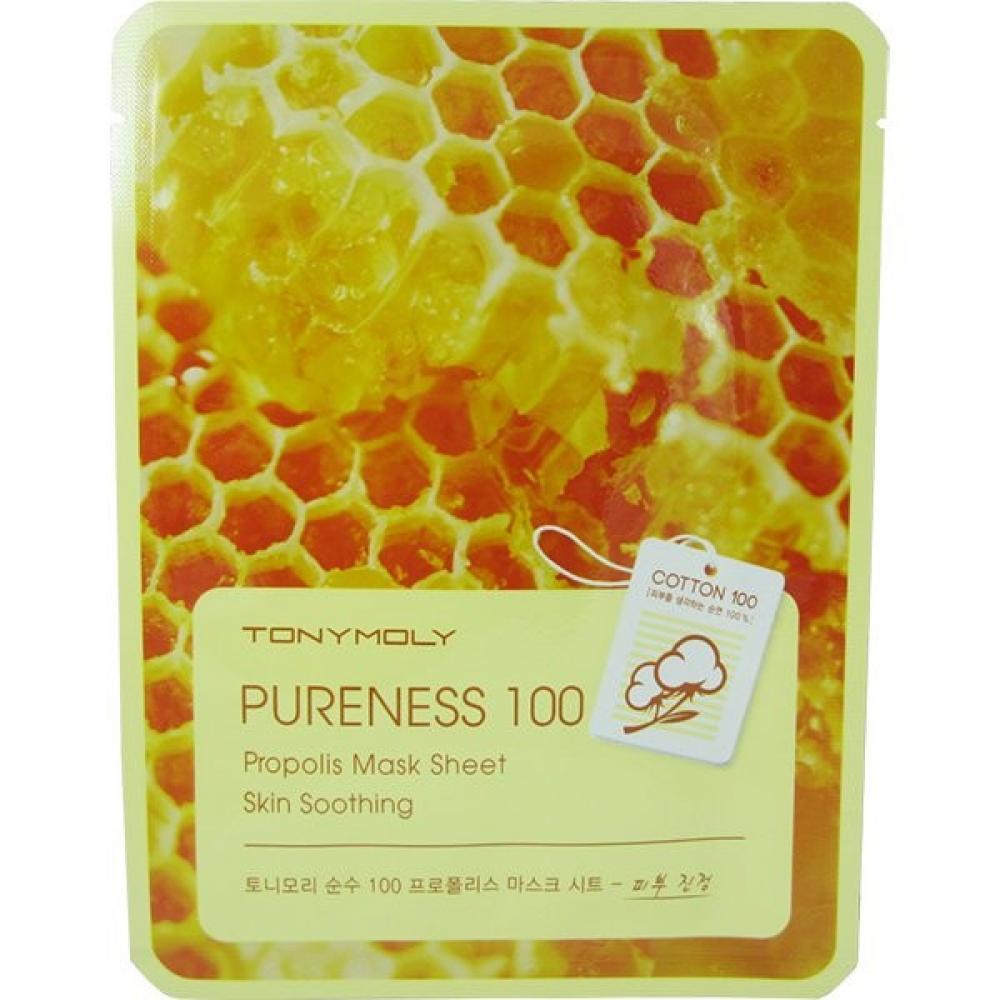 Купить Успокаивающая тканевая маска с прополисом Tony Moly  Pureness 100 Propolis Mask Sheet Skin Soothing