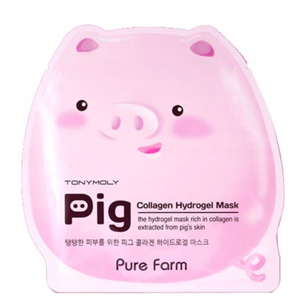 Купить Гидрогелевая маска с коллагеном - Tony Moly Pure Farm Pig Collagen Mask