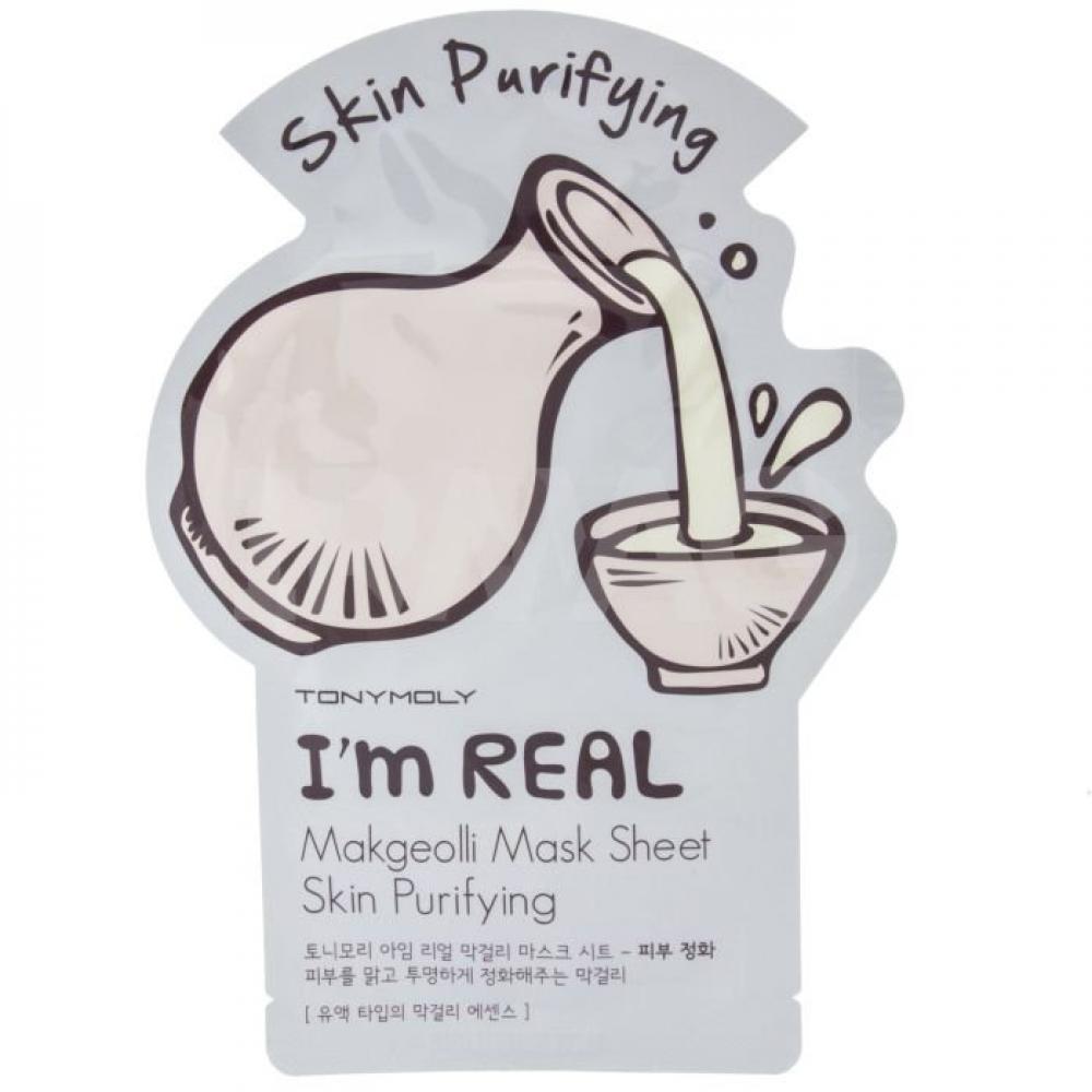 Купить Тканевая маска для лица с макколи - Tony Moly I'm Real Makgeolli Mask Sheet