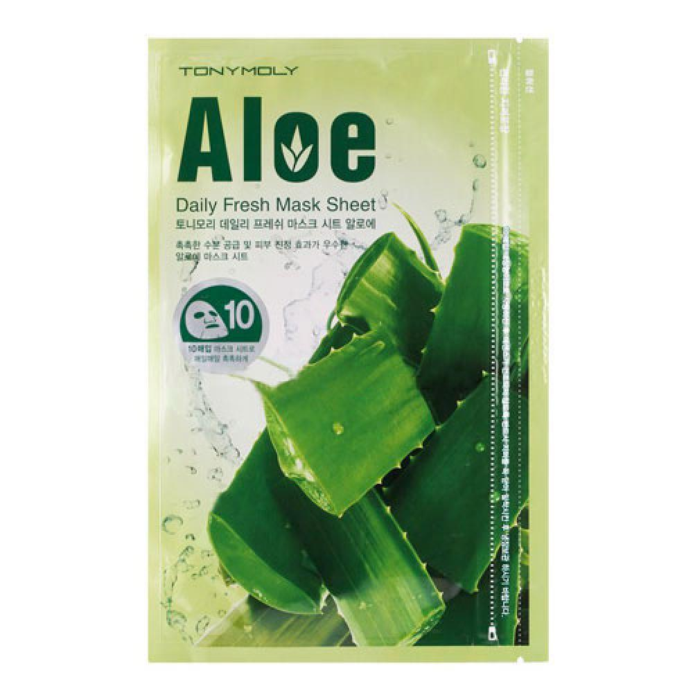 Купить Тканевая маска с экстрактом алоэ вера - Tony Moly Daily Fresh Mask Sheet Aloe