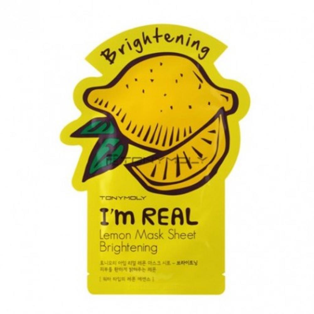 Купить Осветляющая маска для лица с экстрактом лимона Tony Moly I'm Real Lemon Mask Sheet Brightening