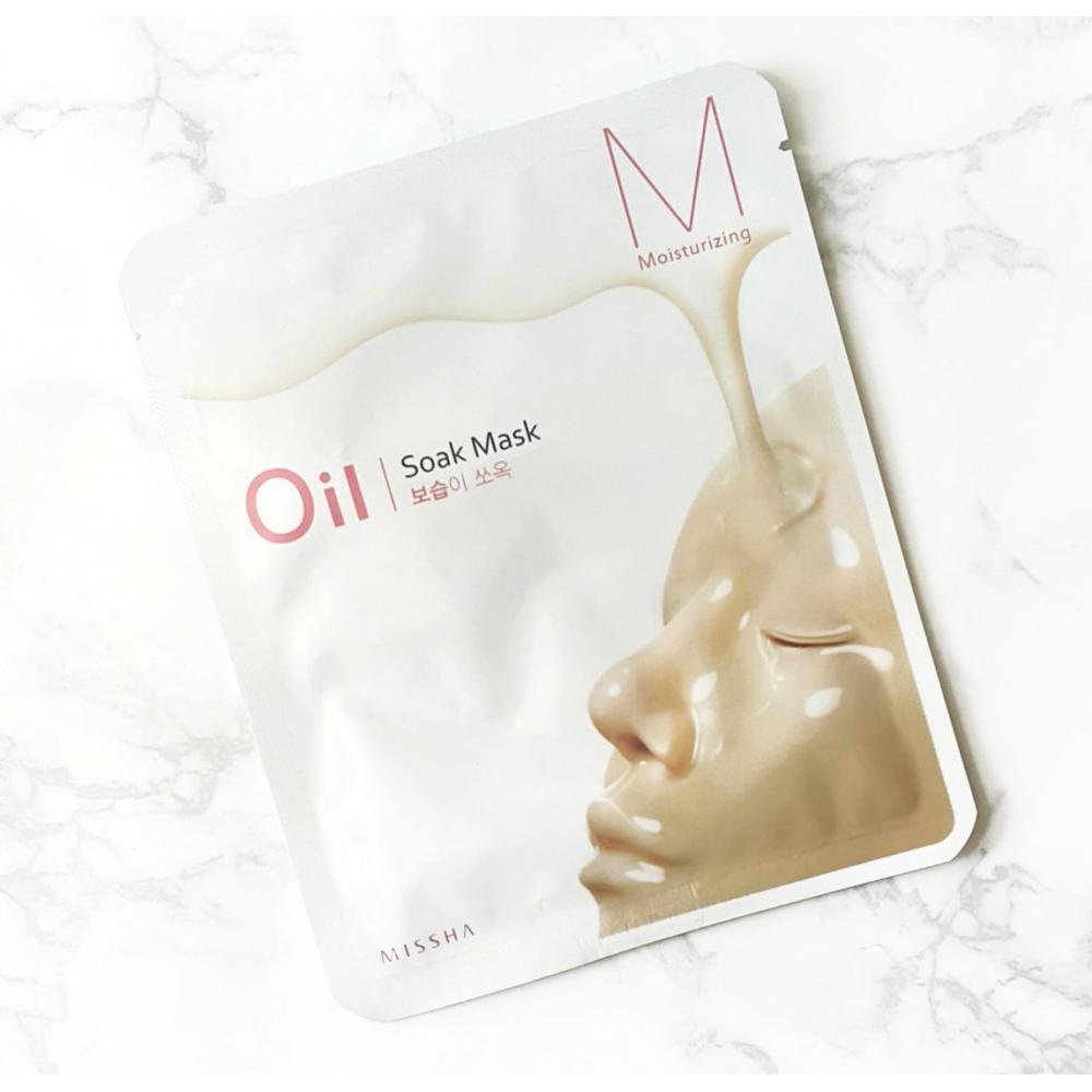 Купить Тканевая маска для лица увлажняющая  - MISSHA Oil-Soak Mask [Moisturizing]