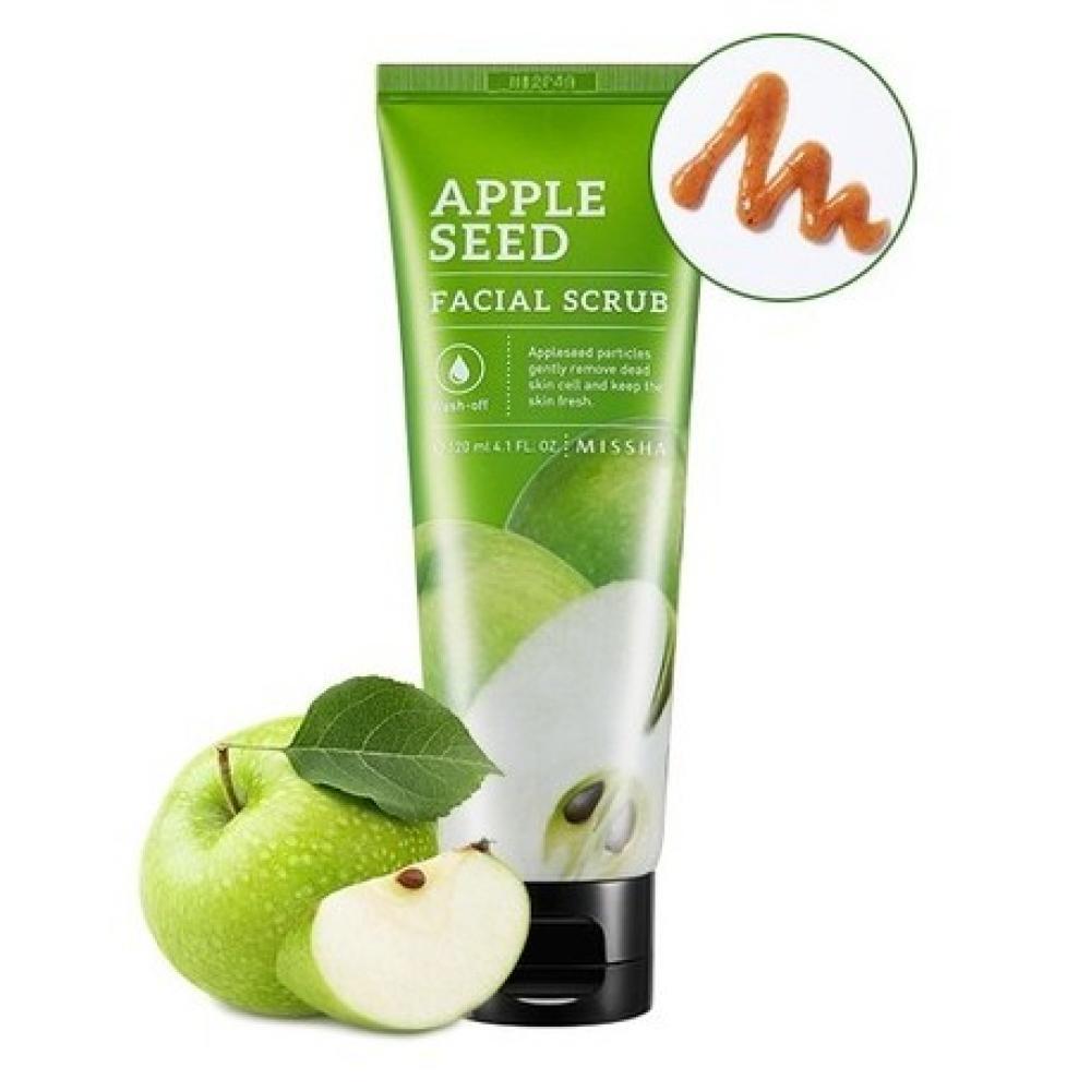 Купить Натуральный скраб с экстрактом яблока - MISSHA Apple Seed Facial Scrub
