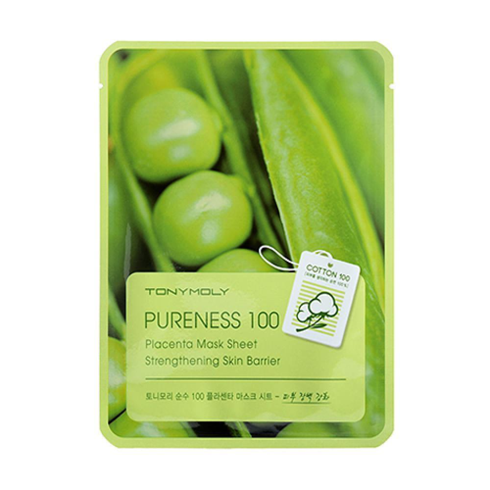 Купить Тканевая маска с  растительной плацентой  PURENESS 100 PLACENTA MASK SHEET Tony Moly