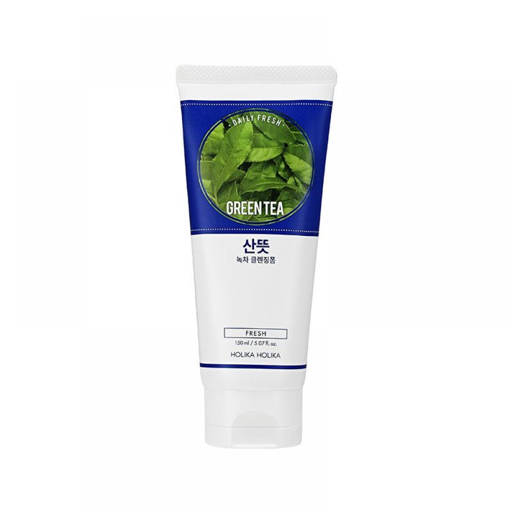 Купить Пенка для умывания - Holika Holika DAILY FRESH GREENTEA CLEANSING FOAM 150ml