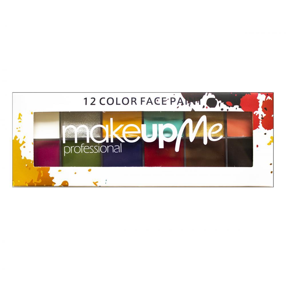 Купить Профессиональная палитра грима 12 оттенков - Make Up Me GRN12