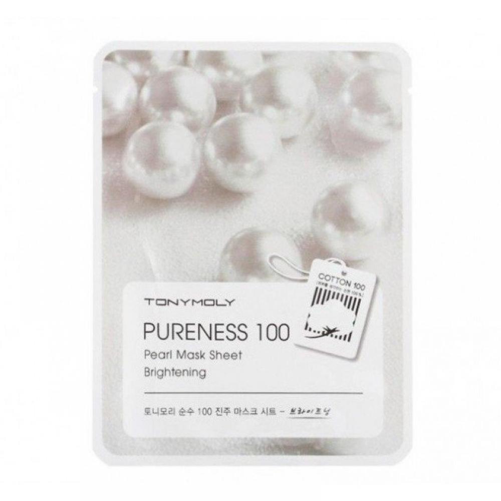 Купить Осветляющая маска с жемчужным экстрактом - Tony Moly Pureness 100 Pearl Mask Sheet
