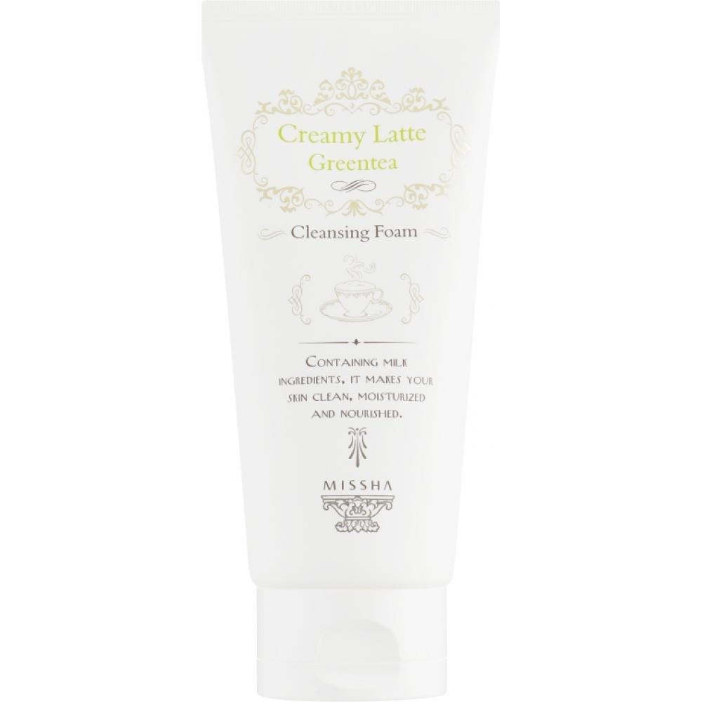 Купить Пенка Missha Creamy Latte Cleansing Foam Green Tea с экстрактом зеленого чая
