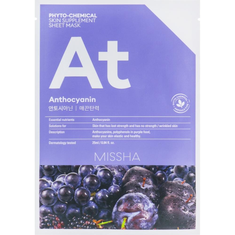 Купить Тканевая маска подтягивающая c антоцианином Missha Phytochemical Skin Supplement Sheet Mask (Anthocyanin/Lifting)