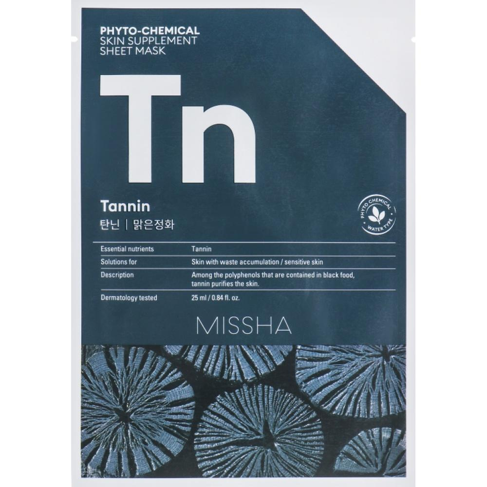 Купить Тканевая маска с танином Missha Phytochemical Skin Supplement Sheet Mask (Tannin/Purifying)