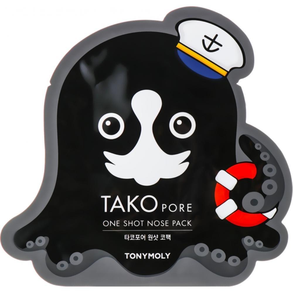 Купить Очищающие полоски для носа TONY MOLY Tako Pore One Shot Nose Pack
